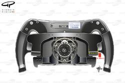 Mercedes F1 W07: Lenkrad mit Kupplungshebel