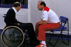 Frank Williams, Williams Team Owner with Ron Dennis, McLaren Team Owner