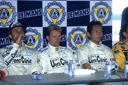 Race winners J.J. Lehto, Yannick Dalmas, Masanori Sekiya
