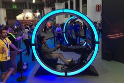 Albert Costa en la exhibición de GT Sport del Barcelona Games World