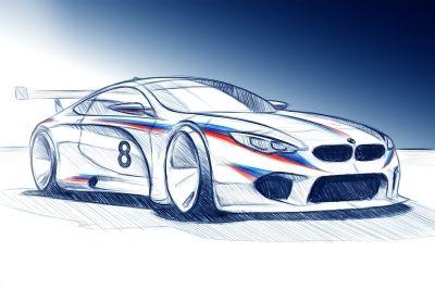 BMW M8 GTE rendering