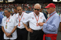 Niki Lauda, Mercedes AMG F1 Non-Executive Chairman, Tan Sri Azman, Chairman of Sepang International