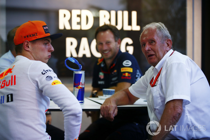 Макс Ферстаппен, Red Bull Racing, керівник Red Bull Racing Крістіан Хорнер, консультант Red Bull Racing Гельмут Марко