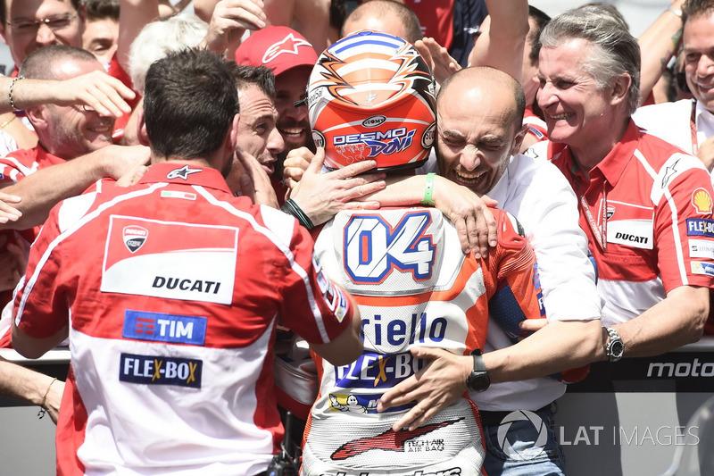 Andrea Dovizioso, Ducati Team dan Claudio Domenicali, CEO Ducati