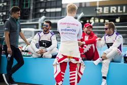 Mitch Evans, Jaguar Racing, Jose Maria Lopez, DS Virgin Racing, Felix Rosenqvist, Mahindra Racing, Nick Heidfeld, Mahindra Racing et Sam Bird, DS Virgin Racing
