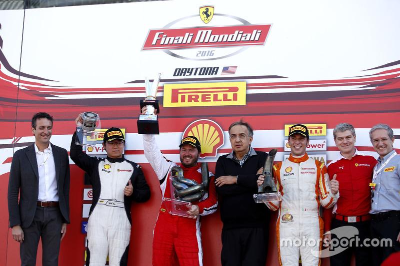 Podium: Ganador, Carlos Kauffmann, Ferrari de Fort Lauderdale; segundo, Wei Lu, Ferrari of Vancouver