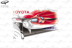 Toyota TF106 2006 sidepod detail