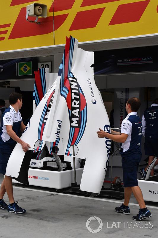 Аеродинамічні елементи Williams FW40