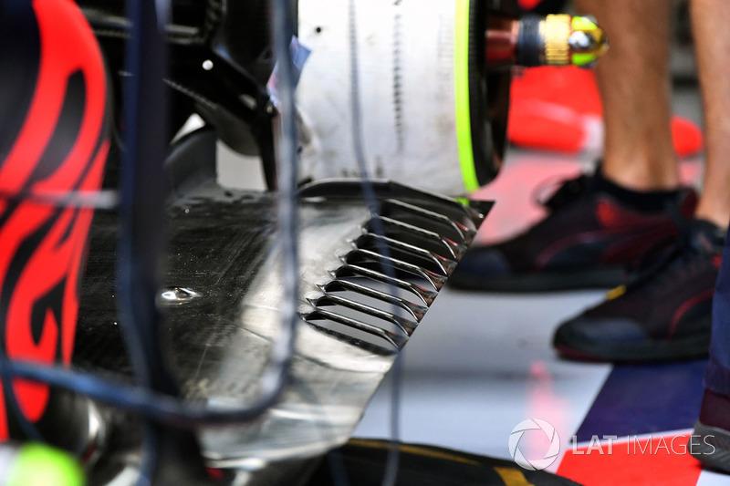 Red Bull Racing RB13 detalle de piso trasero