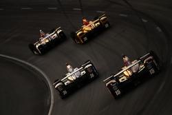 Takuma Sato, Andretti Autosport Honda, Graham Rahal, Rahal Letterman Lanigan Racing Honda