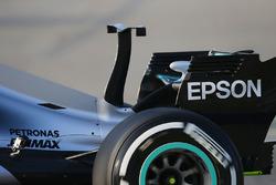 Un aileron sur le capot moteur de la Mercedes AMG F1 W08