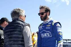 Race Official Mario Andretti with Jimmie Johnson, Hendrick Motorsports Chevrolet