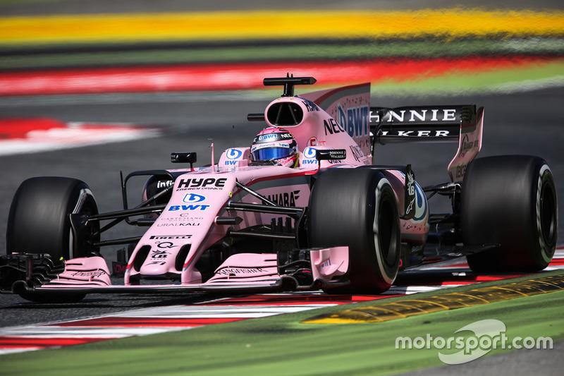 19º Sergio Pérez - 15 carreras - De Alemania 2016 a España 2017 - Force India