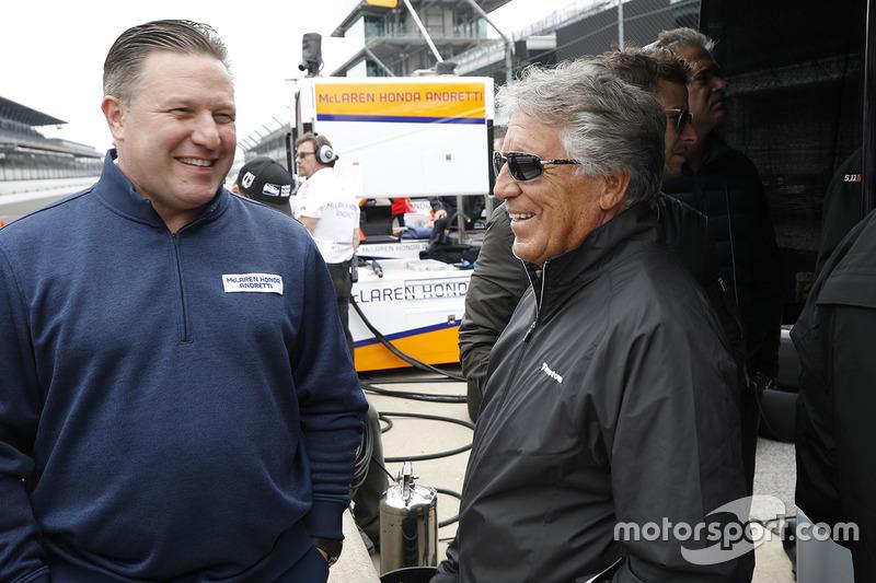 Mario Andretti, Zak Brown, McLaren CEO