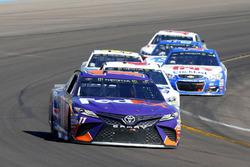 Denny Hamlin, Joe Gibbs Racing Toyota and Trevor Bayne, Roush Fenway Racing Ford