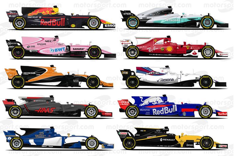 Les F1 de la saison 2017
