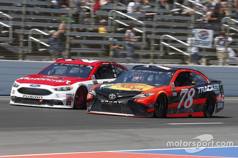 Martin Truex Jr., Furniture Row Racing, Toyota; Ryan Blaney, Wood Brothers Racing, Ford