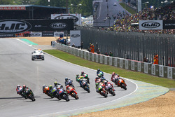 Maverick Viñales, Yamaha Factory Racing, en tête au départ