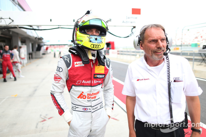 Jamie Green, Audi Sport Team Rosberg, Audi RS 5 DTM con il suo ingegnere Erich Baumgärtner