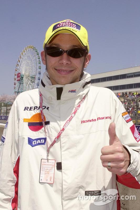 Valentino Rossi, Repsol Honda Team, sur la grille