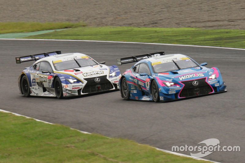 #6 Lexus Team LeMans Lexus RC F: Kazuya Oshima, Andrea Caldarelli, #37 Team Tom's Lexus RC F: James Rossiter, Ryo Hirakawa