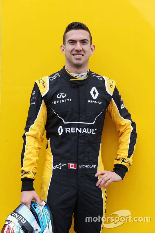 Nicholas Latifi, Renault Sport F1 Team Test Driver