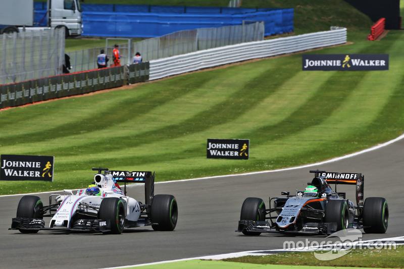 Felipe Massa Williams FW38 y Nico Hulkenberg, Sahara Force India F1 VJM09
