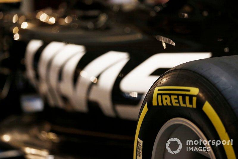 Pirelli Branding on the new 2019 Haas livery