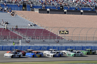 Ross Chastain, Chip Ganassi Racing, Chevrolet Camaro DC Solar and Spencer Gallagher, GMS Racing, Chevrolet Camaro Allegiant