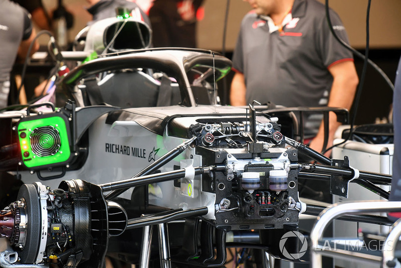 Haas F1 Team VF-18 chassis detail