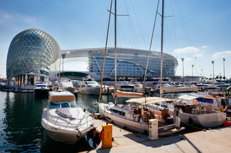 Yas Viceroy Hotel view from the marina