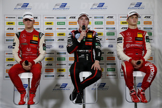 Press Conference, Mick Schumacher, PREMA Theodore Racing Dallara F317 - Mercedes-Benz, Jüri Vips, Motopark Dallara F317 - Volkswagen, Ralf Aron, PREMA Theodore Racing Dallara F317 - Mercedes-Benz