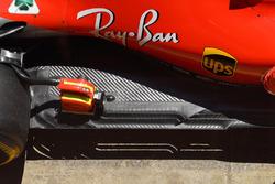 Ferrari SF71H rear floor detail
