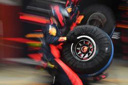 Mecánico Red Bull Racing y neumático Pirelli