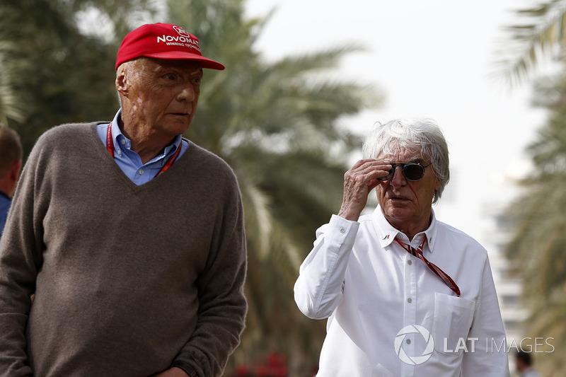 Невиконавчий директор Mercedes AMG Нікі Лауда, Берні Екклстоун