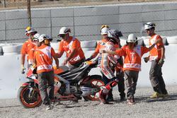 Marc Marquez, Repsol Honda Team, nach Sturz