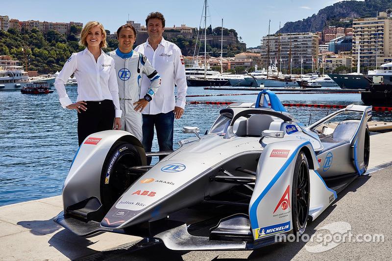 Susie Wolff, Team Principal Venturi Formula E Team, Felipe Massa, Venturi Formula E Team, Gildo Pallanca Pastor, pemilik Venturi Formula E Team