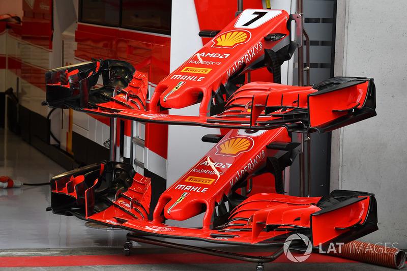 Ferrari SF71H nariz y alas delanteras