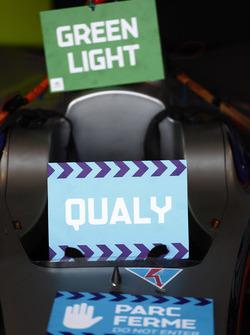 Luz verde Parc Ferme apunta a un automóvil Venturi