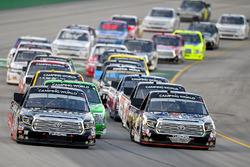 Noah Gragson, Kyle Busch Motorsports, Toyota Tundra Safelite AutoGlass, Todd Gilliland, Kyle Busch Motorsports, Toyota Tundra Mobil 1