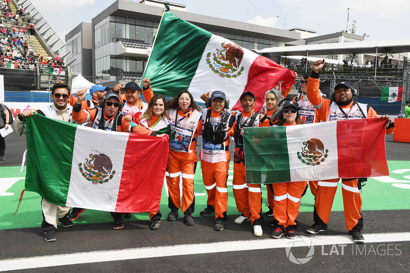 Marshals with flags