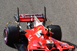Kimi Raikkonen, Ferrari SF70H with aero sensors on rear wing