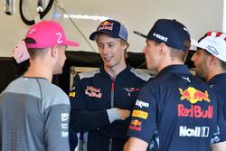 Stoffel Vandoorne, McLaren, Brendon Hartley, Scuderia Toro Rosso, Max Verstappen, Red Bull Racing an