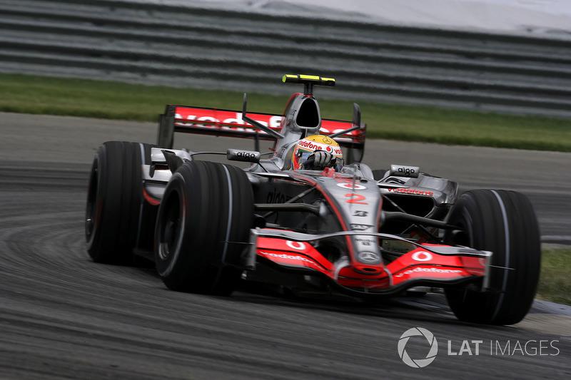 2007 - Indianapolis: Lewis Hamilton, McLaren-Mercedes MP4-22
