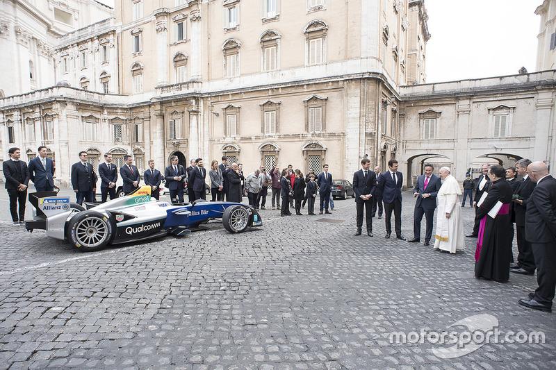 Ferenc pápa, Alejandro Agag, CEO, Formula E