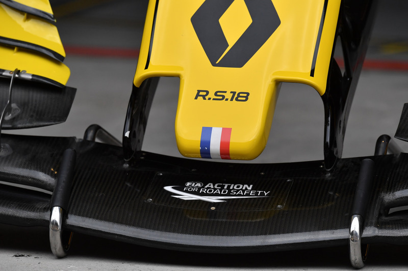 Renault Sport F1 Team RS18 nose detail
