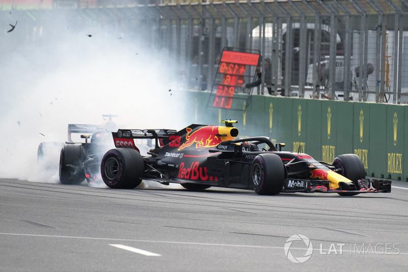 Max Verstappen, Red Bull Racing RB14 y Daniel Ricciardo, Red Bull Racing RB14