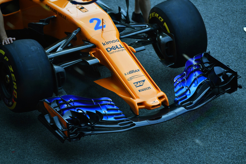 McLaren MCL33, ніс і переднє антикрило