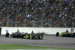 Джозеф Ньюгарден, Team Penske Chevrolet, и Чарли Кимболл, Carlin Chevrolet