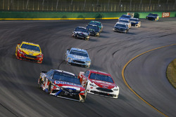 Kyle Busch, Joe Gibbs Racing, Toyota Camry Snickers Intense and Ryan Blaney, Team Penske, Ford Fusion DEX Imaging